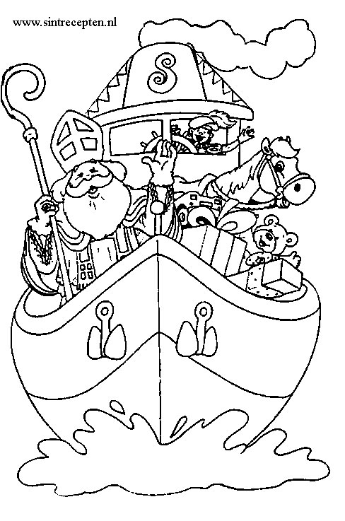 Sinterklaas Welkom Kleurplaat Kleurplaten